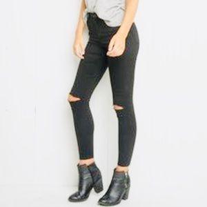 Brandy Melville Black Distress Skinny Jeans Size 1